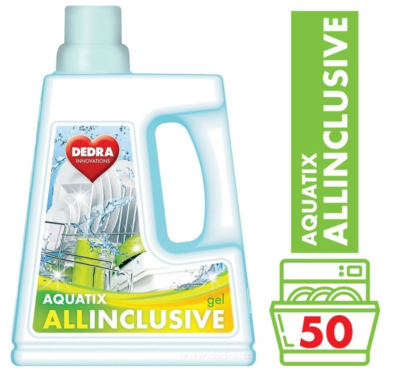 AQUATIX ALLINCLUSIVE gel do myčky 1500 ml 50 mycích cyklů